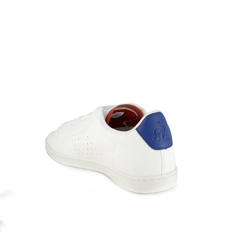 4646c01521 ... zapatillas deportivas LE COQ SPORTIF blancas de cordones y detalles  azules y rojos - Querol online