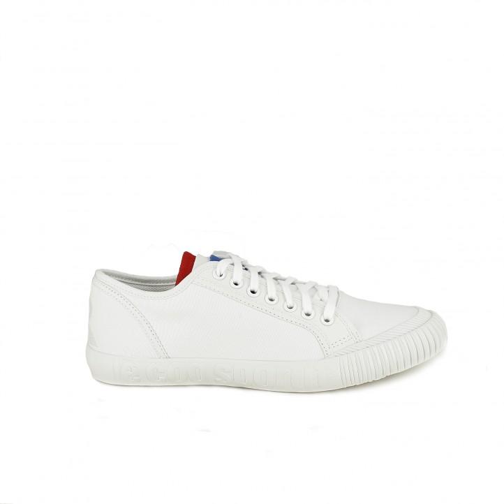 Online Querol Blancas Cordones Lona Francesa Bandera Sportif Coq Le Y Con Zapatillas vH1WpP1