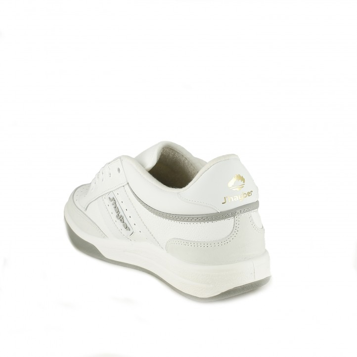 zapatillas deportivas JHAYBER new olimpo blancas con cordones - Querol online