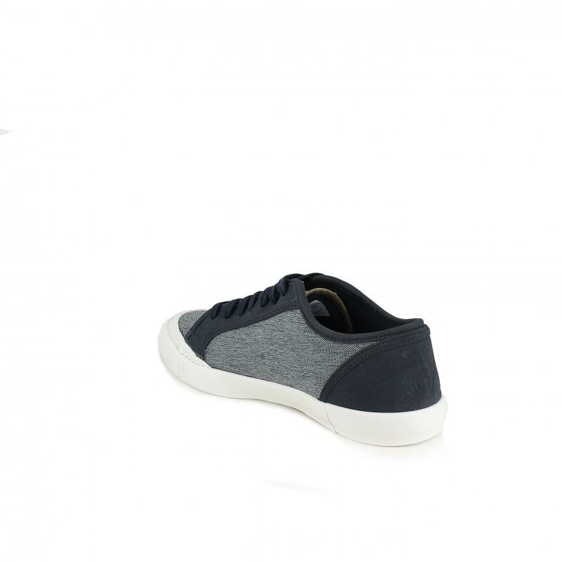 422c33c63e76f ... zapatillas lona LE COQ SPORTIF textura tejana y azul contraste - Querol  online