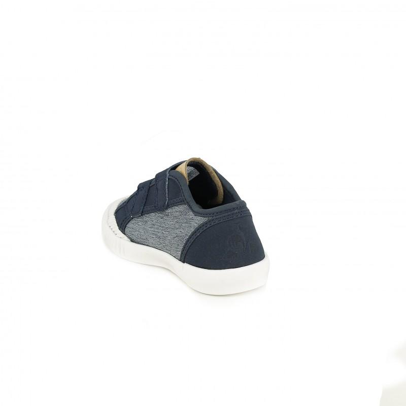 f454c4be0546d ... zapatillas lona LE COQ SPORTIF textura tejana y azul contraste - Querol  online ...