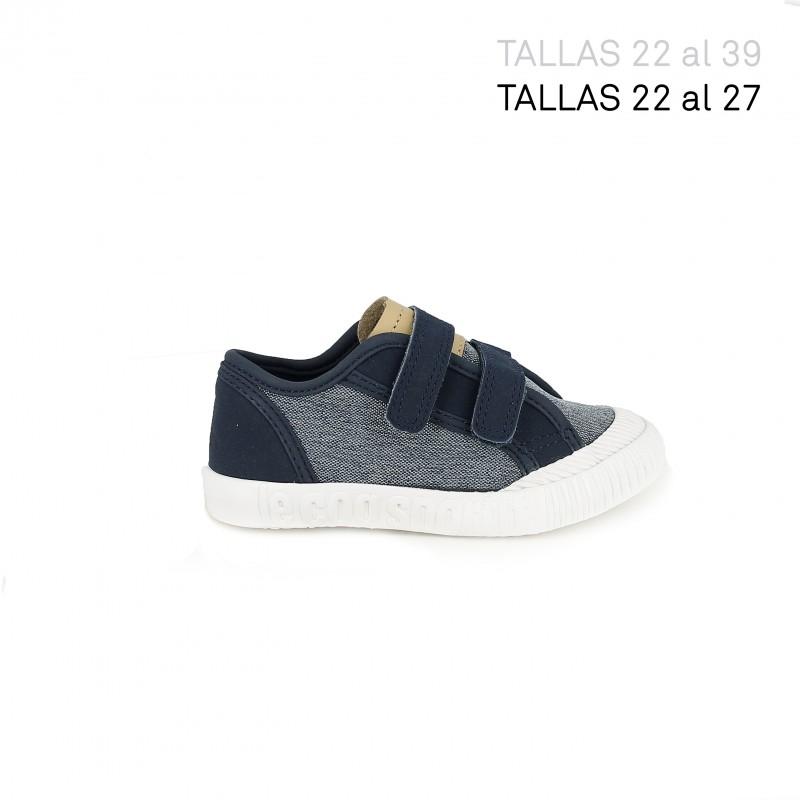 c578c896c5607 zapatillas lona LE COQ SPORTIF textura tejana y azul contraste - Querol  online ...