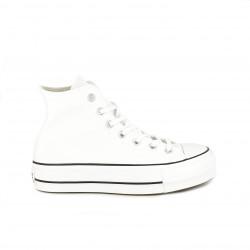 zapatillas lona CONVERSE blancas de bota con plataforma - Querol online
