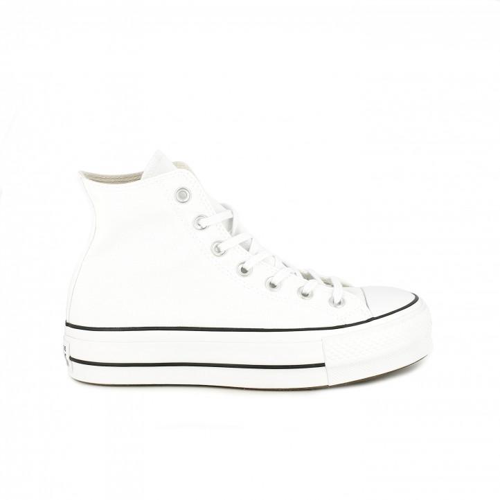 64e9e562 zapatillas lona CONVERSE blancas de bota con plataforma - Querol online ...