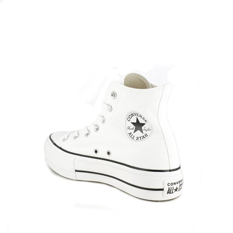 14b3bfb8 ... zapatillas lona CONVERSE blancas de bota con plataforma - Querol online