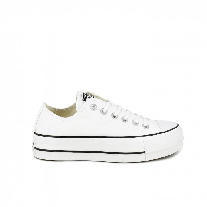5992308d zapatillas lona CONVERSE blancas con plataforma - Querol online ...