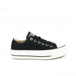 zapatillas lona CONVERSE negras con plataforma - Querol online