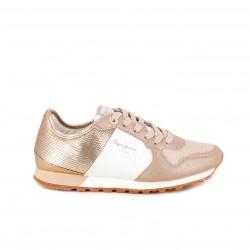 zapatillas deportivas PEPE JEANS rosas brilli brilli y lentejuelas - Querol online