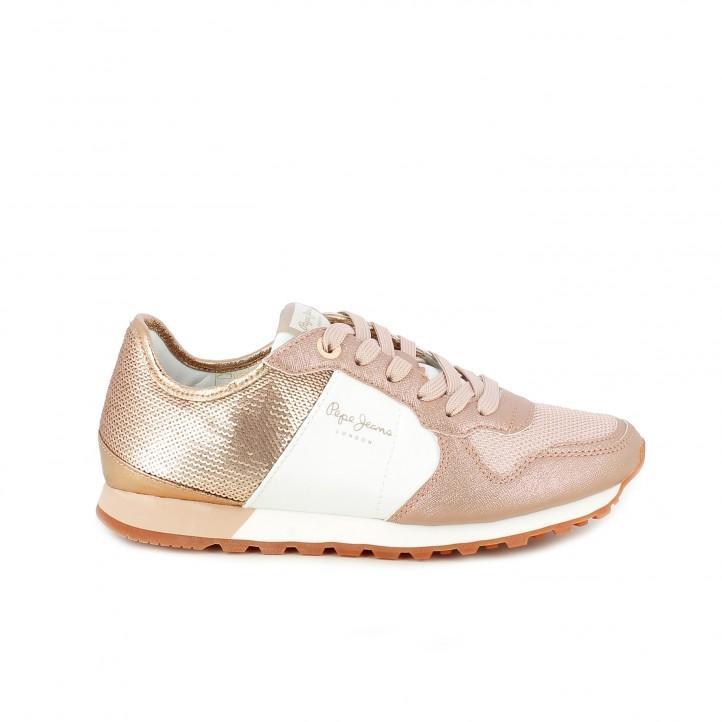 f51b4560df520 zapatillas deportivas PEPE JEANS rosas brilli brilli y lentejuelas - Querol  online ...