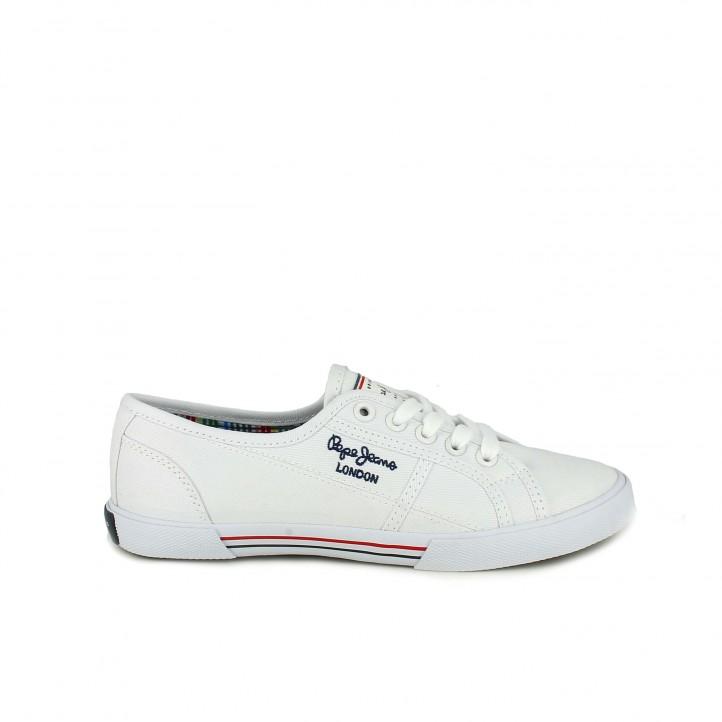 acd887ea zapatillas lona PEPE JEANS blancas con interior multicolor