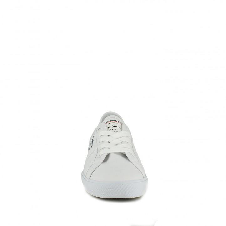 zapatillas lona PEPE JEANS blancas con interior multicolor - Querol online