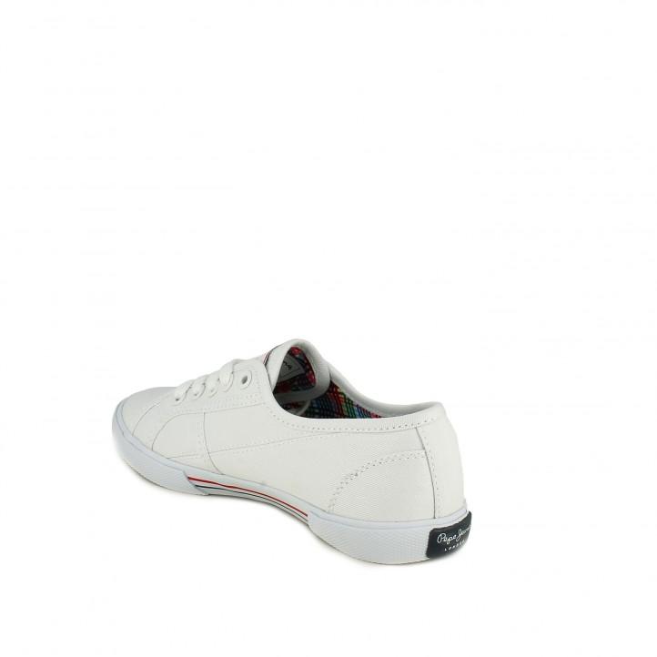 sabatilles lona PEPE JEANS blanques amb interior multicolor - Querol online