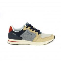 zapatillas deportivas PEPE JEANS azules, marrones y rojas - Querol online