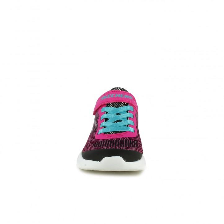 zapatillas deporte SKECHERS negras, rosas y azules - Querol online