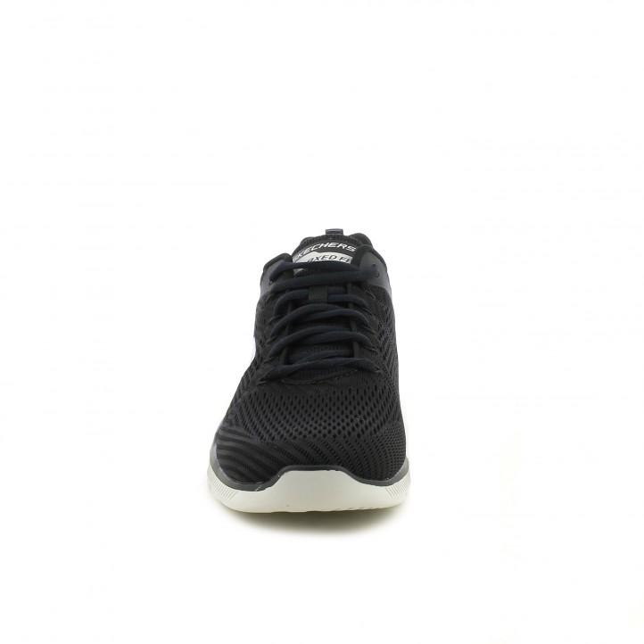 zapatillas deportivas SKECHERS memory foam negras y suela gris - Querol online