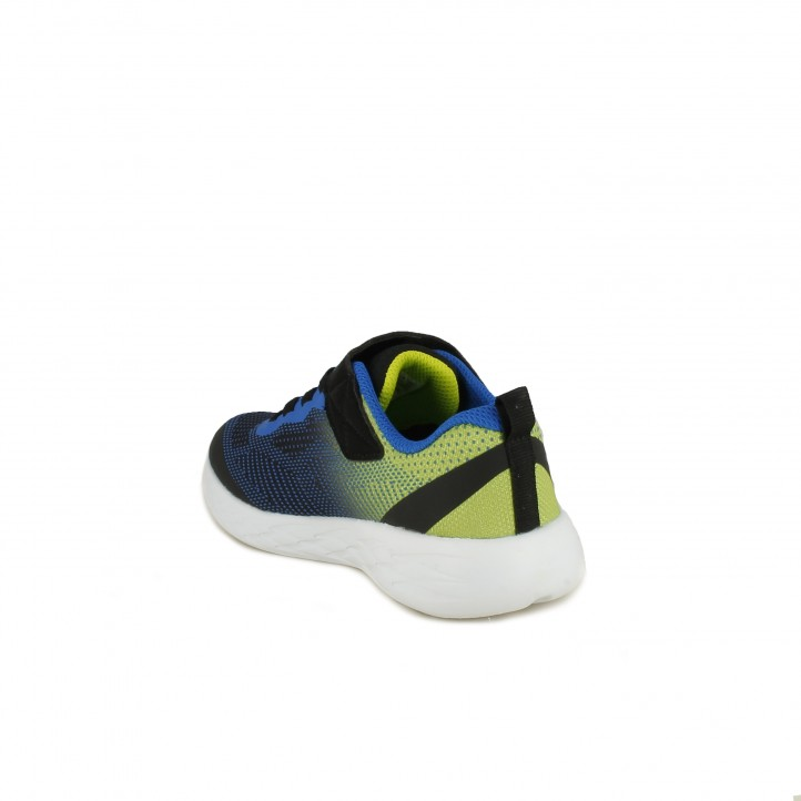 zapatillas deporte SKECHERS negras, azules y verdes - Querol online