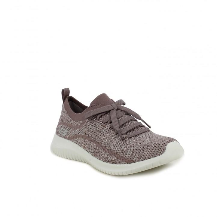 zapatillas deportivas SKECHERS memory foam lilas - Querol online