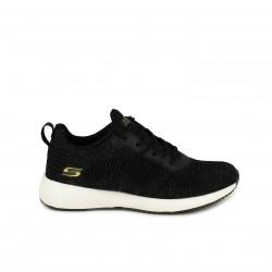 zapatillas deportivas SKECHERS negras con purpurina - Querol online