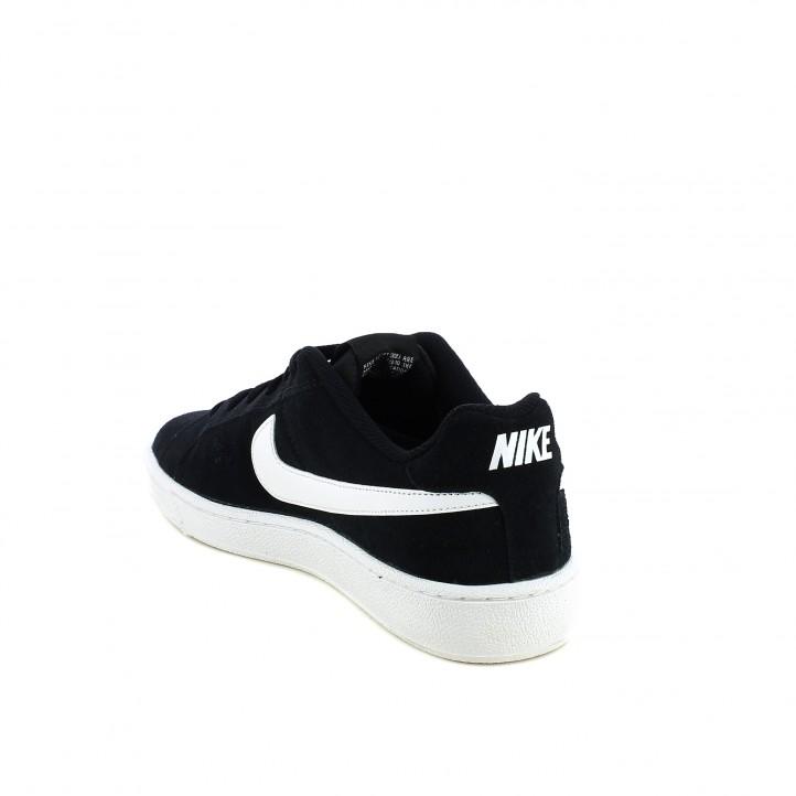 zapatillas deportivas Nike court royale negras de piel - Querol online