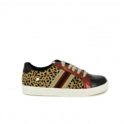 Zapatillas deportivas Gioseppo estampado leopardo y detalles napa - Querol online