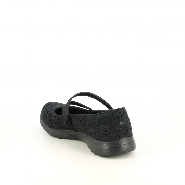 Zapatos planos Skechers burst memory foam negras de encaje - Querol online