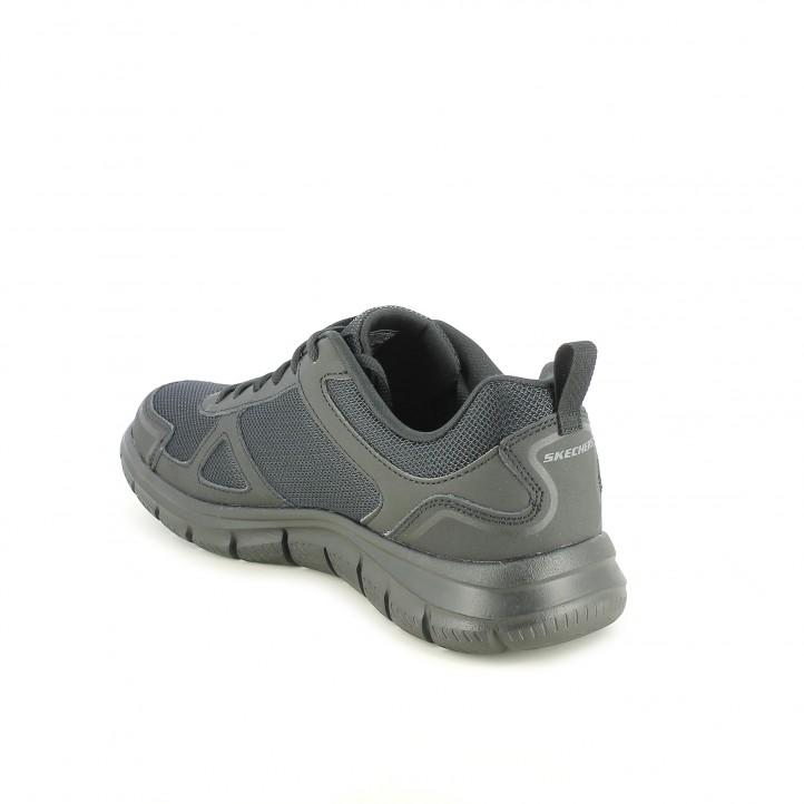 Zapatillas deportivas Skechers memory foam negras con cordones - Querol online