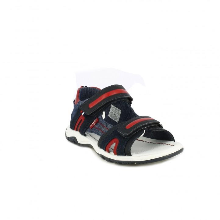 sandàlies Levi's Kids blaves, vermelles i negres - Querol online