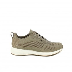 Zapatillas deportivas Skechers bobs sport marrones con purpurina - Querol online