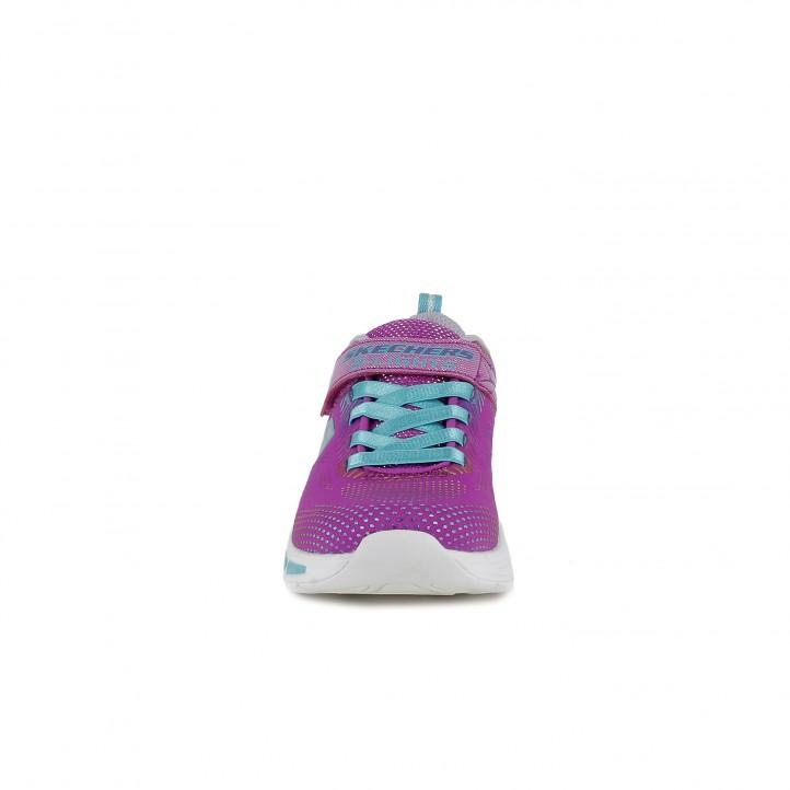 Zapatillas deporte Skechers rosas y azules con luces - Querol online