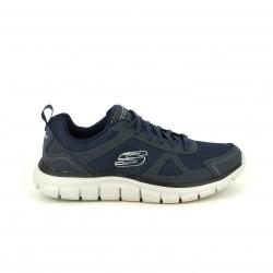 6e068f9e06afb Zapatillas deportivas Skechers memory foam azul marino con cordones -  Querol online