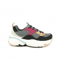 zapatillas deportivas VICTORIA de colores y plataforma - Querol online