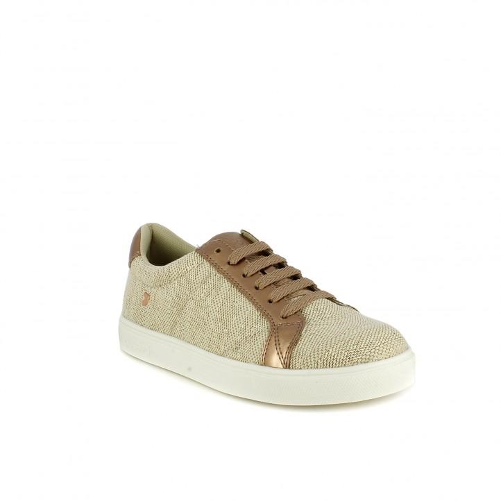 Zapatillas deportivas Gioseppo doradas con tonos rosados - Querol online