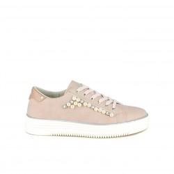 Zapatillas deportivas Xti rosas con detalle de perlas - Querol online
