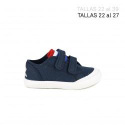 Zapatillas lona LE COQ SPORTIF azul marino con bandera francesa - Querol online