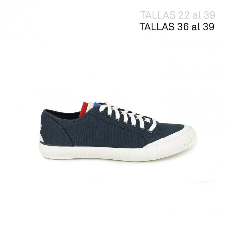 686fc8008f6 ... zapatillas lona LE COQ SPORTIF azul marino con bandera francesa -  Querol online ...