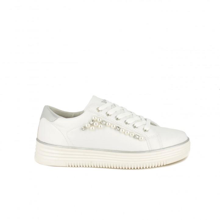 73a5377f Zapatillas deportivas Xti blancas con detalle de perlas - Querol online ...