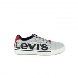 Zapatillas deporte Levi's grises de cordones con logotipo