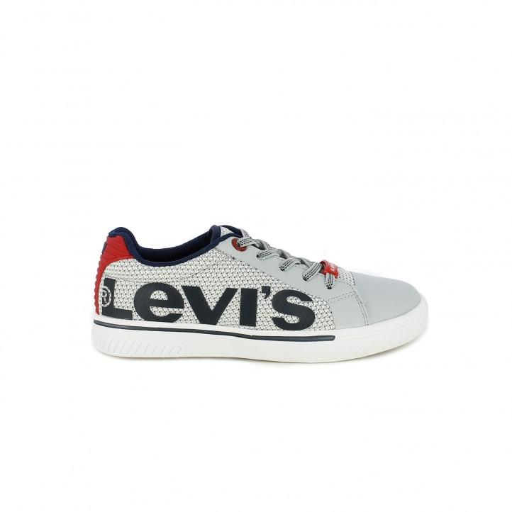 Sabatilles esport Levi's grises de cordons amb logotip - Querol online