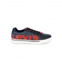 Zapatillas deporte Levi's azules de cordones con logotipo - Querol online