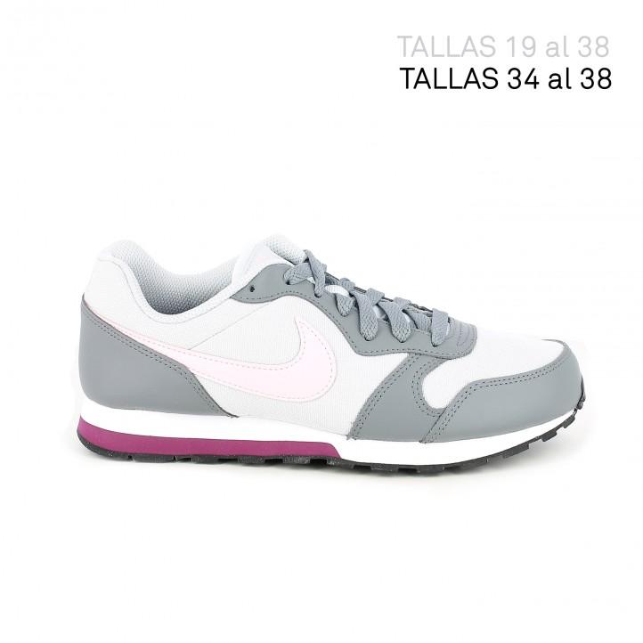 Zapatillas deporte Nike runner 2 grises con detalle rosa - Querol online