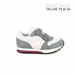 Zapatillas deporte Nike runner 2 grises con detalle rosa