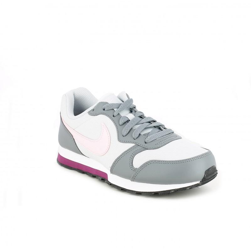 8cee8f3c9 ... Zapatillas deporte Nike runner 2 grises con detalle rosa - Querol  online ...