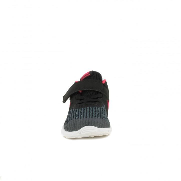 60acd9367a0 ... Zapatillas deporte Nike revolution 4 negras con detalles fucsia -  Querol online ...