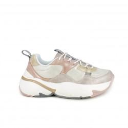 Zapatillas deportivas Victoria de colores pastel metalizados y plataforma - Querol online