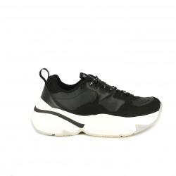 Zapatillas deportivas Victoria negras con suela blanca de plataforma - Querol online