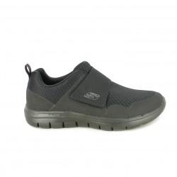 Zapatos sport Skechers negros con memory foam y velcro - Querol online