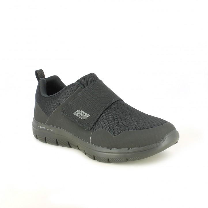 dd3e5119 ... Zapatos sport Skechers negros con memory foam y velcro - Querol online  ...