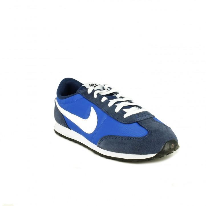 Zapatillas deportivas NIKE mach runner azules y blancas - Querol online