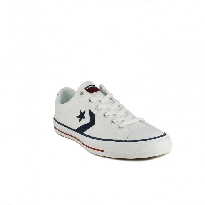 Zapatillas lona Converse star player blancas bajas - Querol online