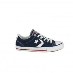 Zapatillas lona Converse star player azul marino con cordones - Querol online